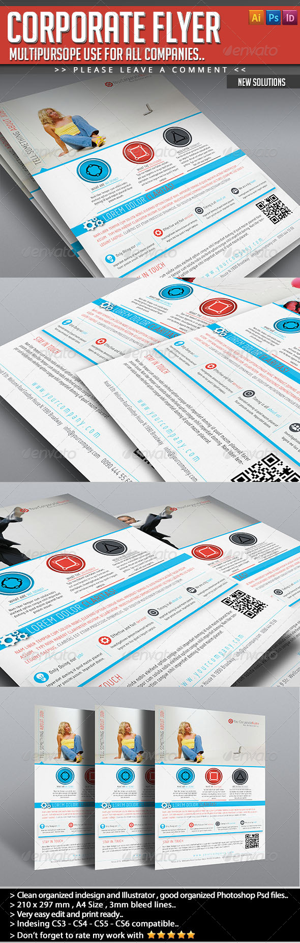 GraphicRiver Corporate Flyer New Solutions 4852137