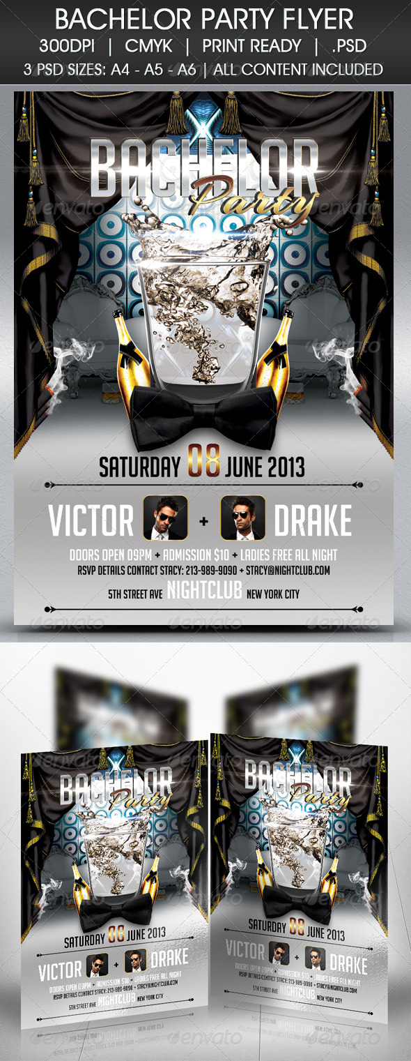 GraphicRiver Bachelor Party Flyer 4682054
