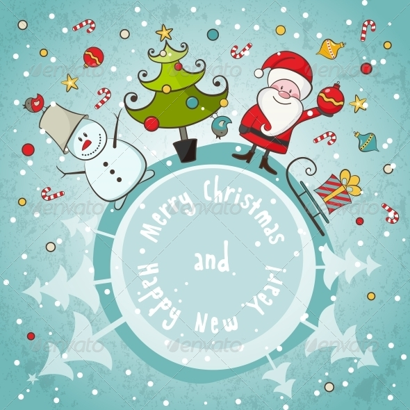 GraphicRiver Vector Christmas Card 4854772