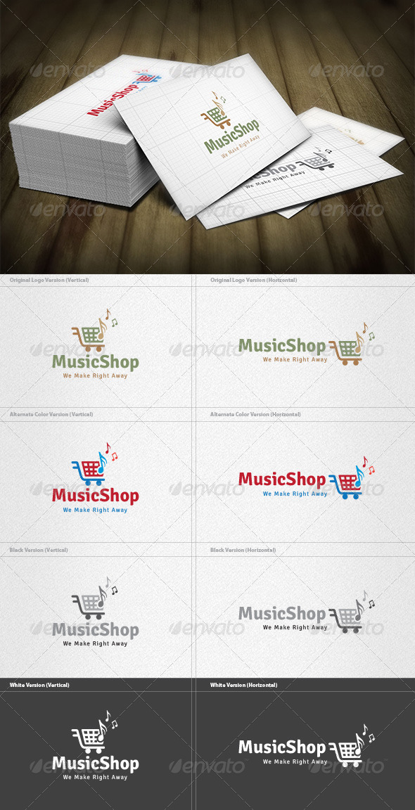GraphicRiver Music Shopping Logo 4552516
