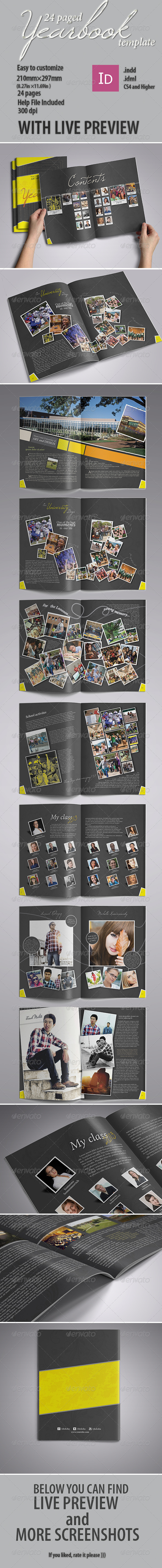 GraphicRiver Modern Yearbook Template 4855371