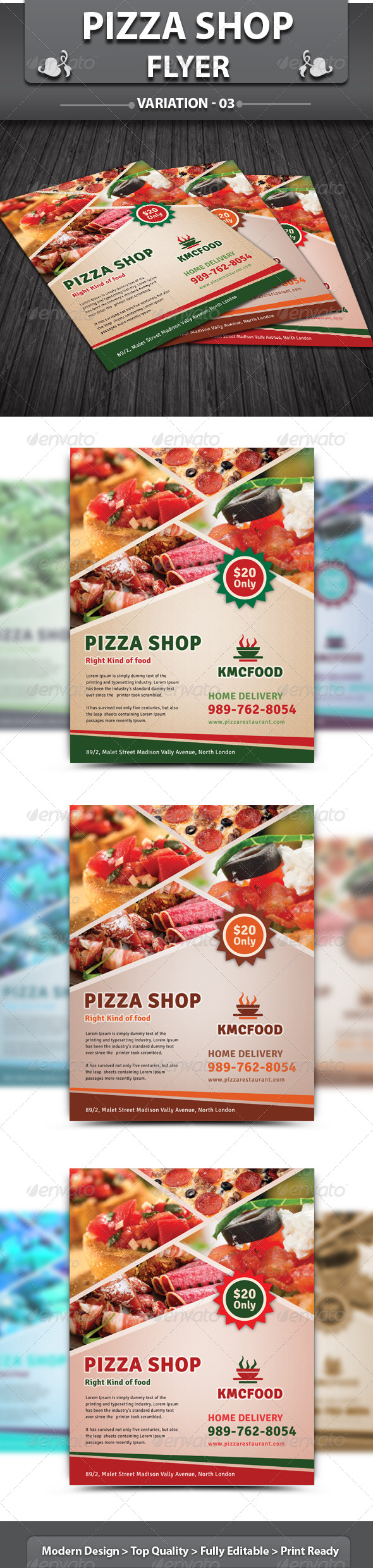 GraphicRiver Pizza Shop Flyer 4685986