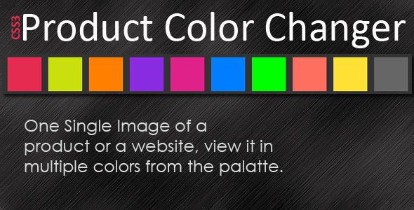CodeCanyon CSS3 Product Color Changer 4853493