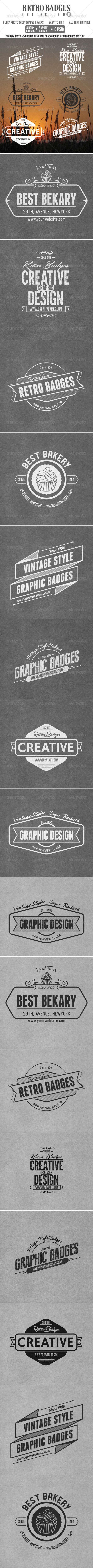 GraphicRiver Retro Badges Col.8 4855877