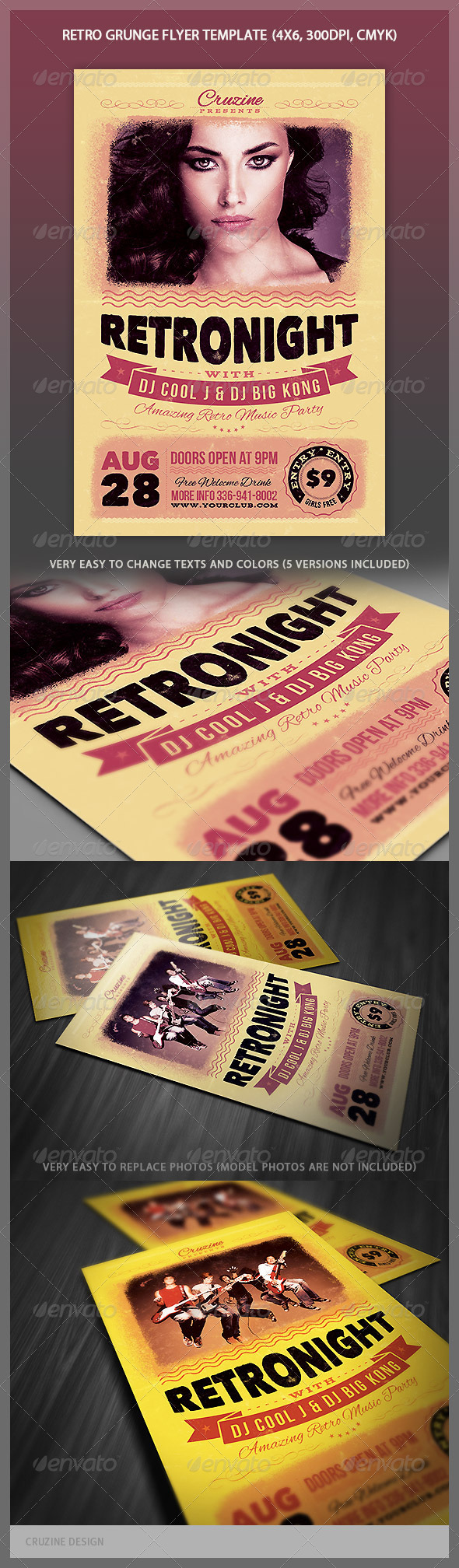 Retro Grunge Flyer - Events Flyers