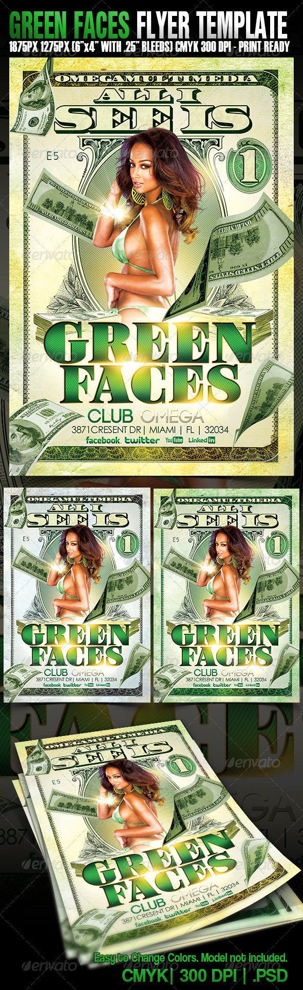GraphicRiver Green Faces 4791888