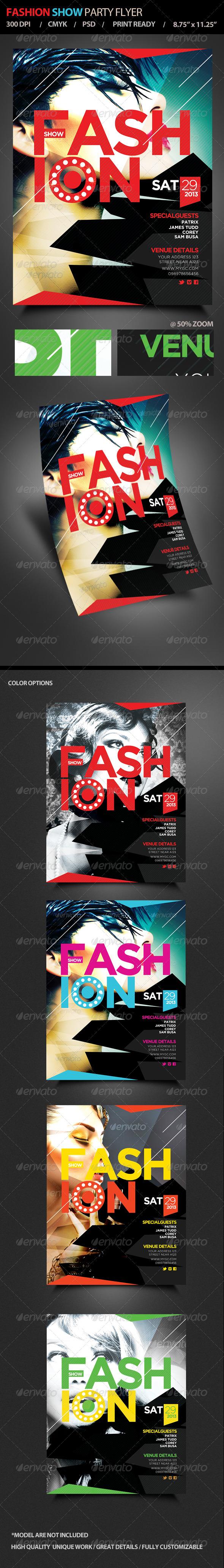 GraphicRiver Fashion Show Flyer Magazine Cover V2 4856302
