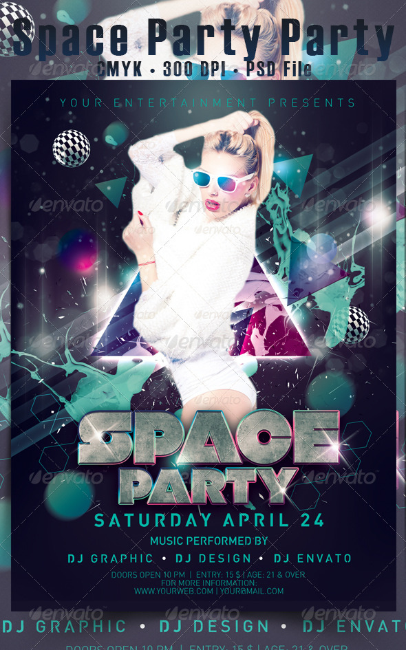 Space Party - Events Flyers