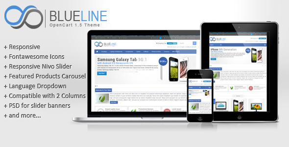 ThemeForest Blueline OpenCart Theme 4852557