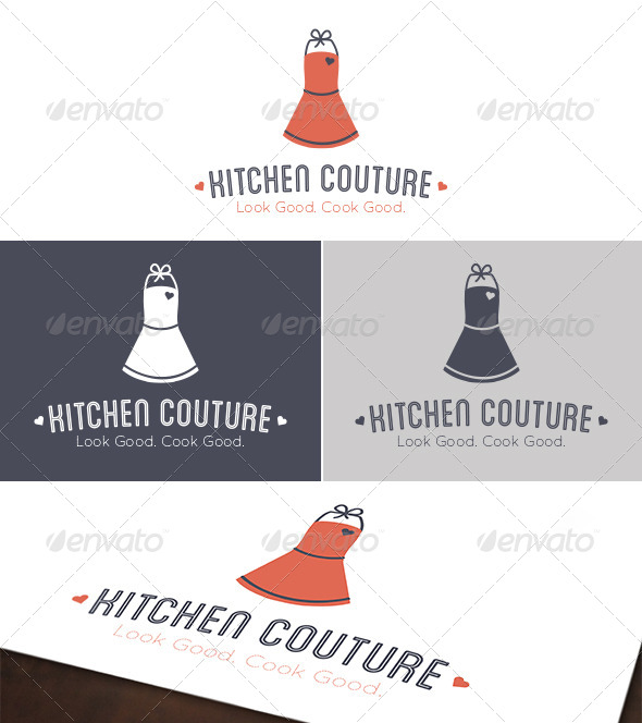 GraphicRiver Kitchen Couture Logo 4843803