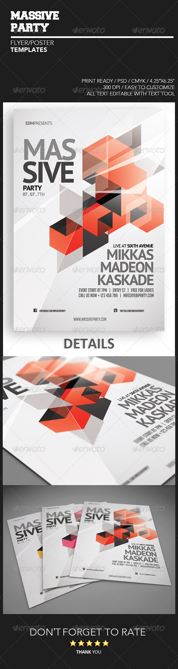GraphicRiver Massive Party Flyer 4860249