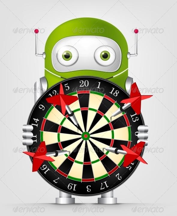 GraphicRiver Green Robot 4860293
