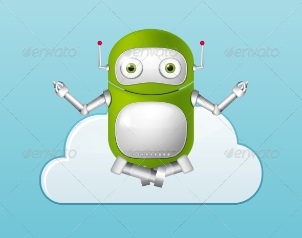 GraphicRiver Green Robot 4860335