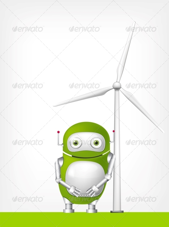 GraphicRiver Green Robot 4860341