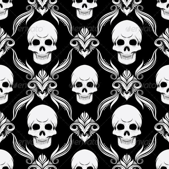 GraphicRiver Skull Pattern 4860403