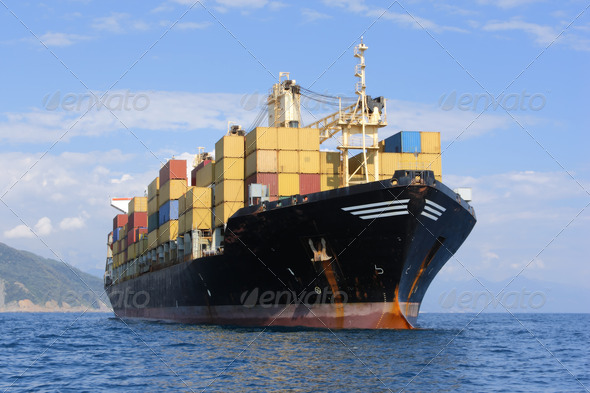 PhotoDune container ship 502269