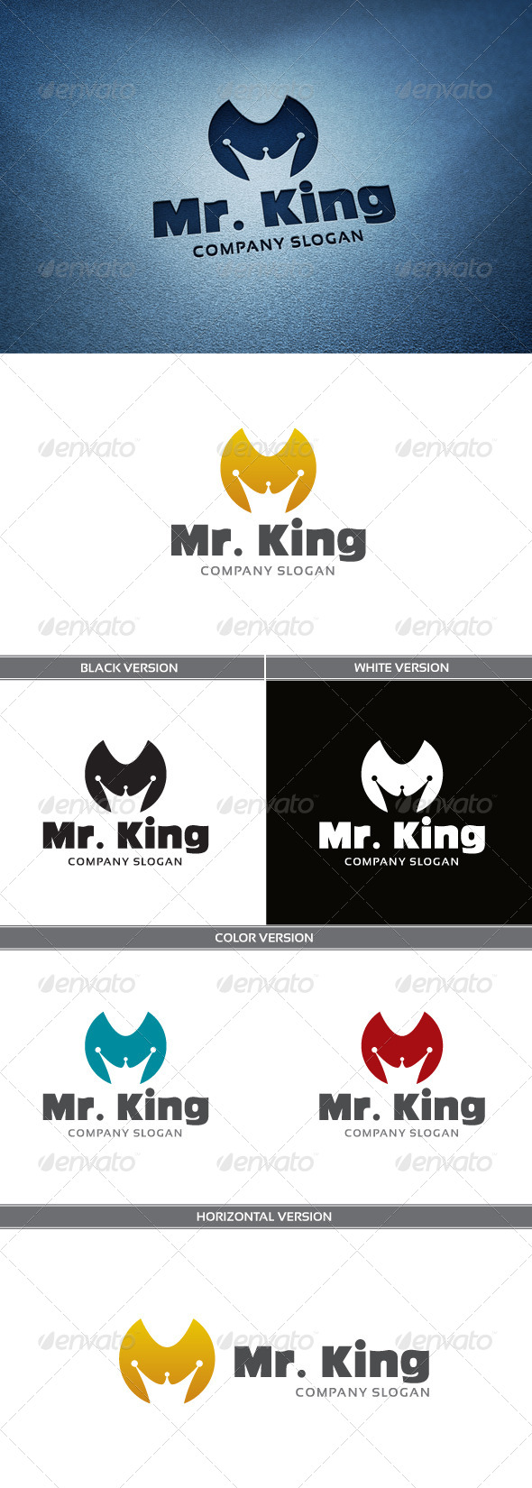 GraphicRiver Mr King Logo 4861992
