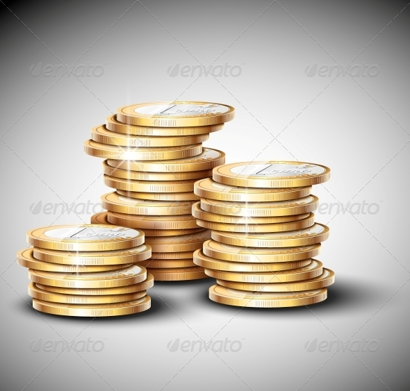 GraphicRiver Stacks of Coins 4862371