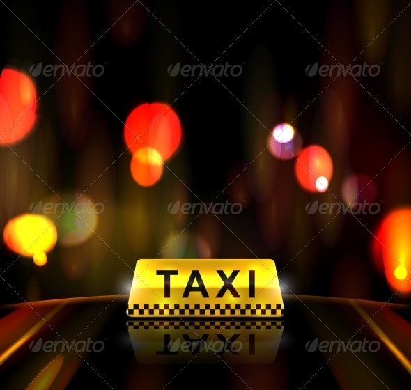 GraphicRiver Taxi Service in City 4862373