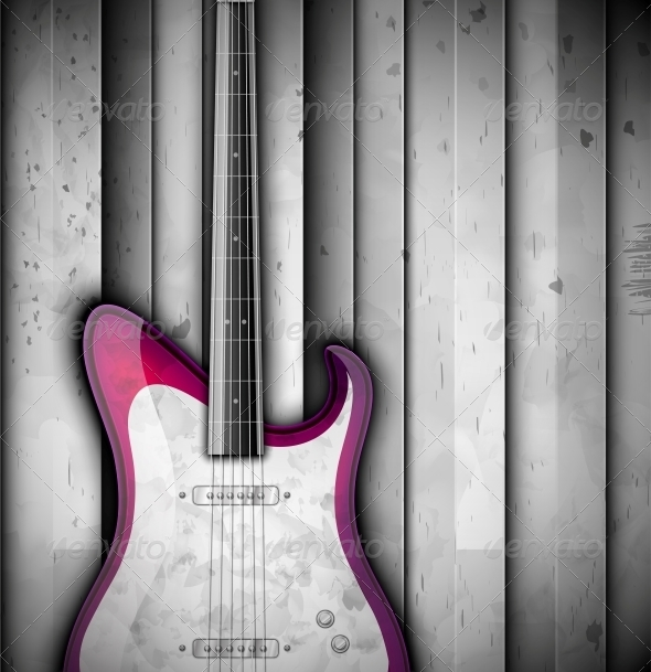 GraphicRiver Background with Guitar 4862403