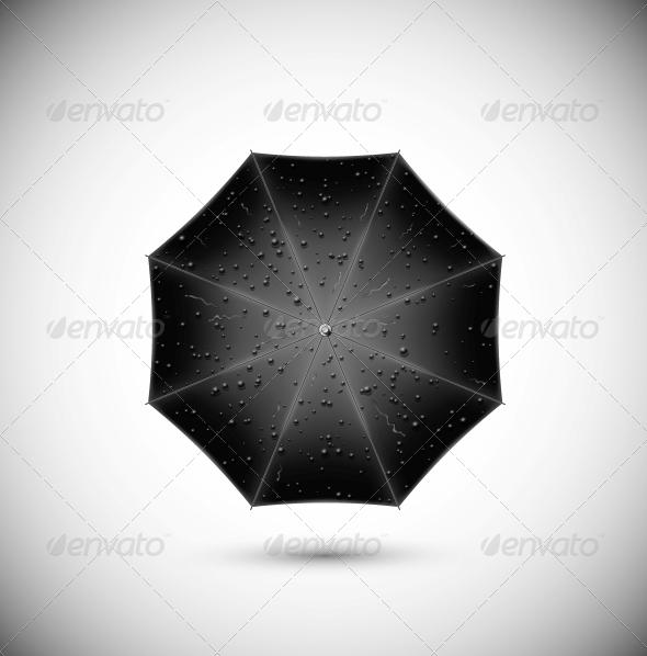 GraphicRiver Black umbrella 4862406