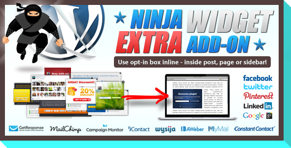 Ninja Widget Extra Add-on - CodeCanyon Item for Sale
