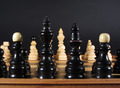Chess Set on Black - PhotoDune Item for Sale