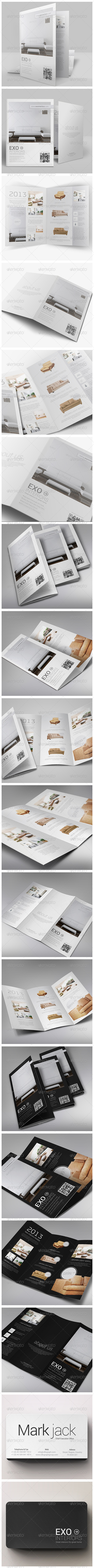 GraphicRiver Brochures Pack A4 & Trifold & Business Card 4864032