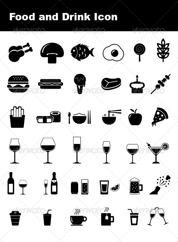 GraphicRiver Food and Drink Icon 4864481