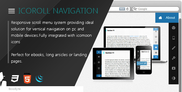 CodeCanyon IcoRoll Scroll Navigation System 4865779