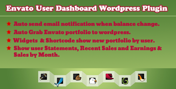 CodeCanyon Envato User Dashboard Wordpress Plugin 4858533