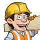 Construction Worker Carpenter - GraphicRiver Item for Sale