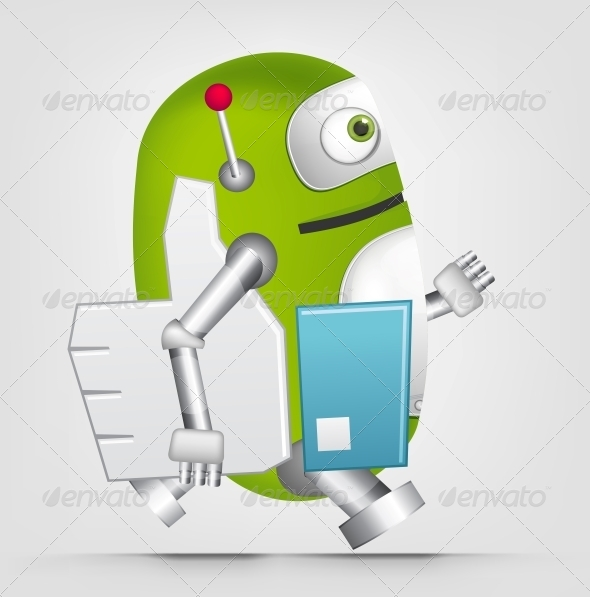 GraphicRiver Green Robot 4867062