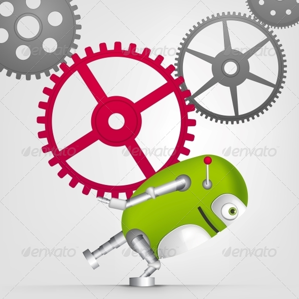 GraphicRiver Green Robot 4867071