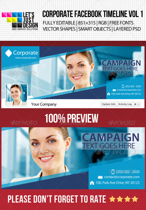 GraphicRiver Corporate Facebook Timeline Cover Vol 1 4869081