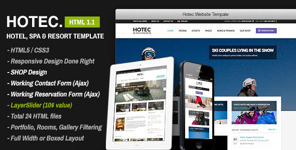 Hotec - Responsive Hotel, Spa & Resort Template