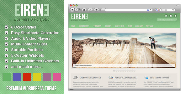 Eirene - Business & Portfolio WordPress Theme