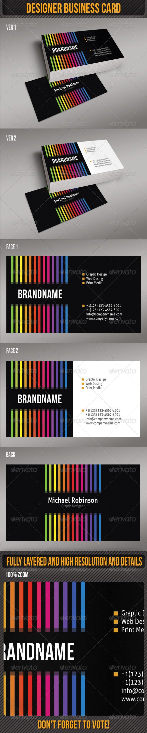GraphicRiver Designer Business Card 4869419