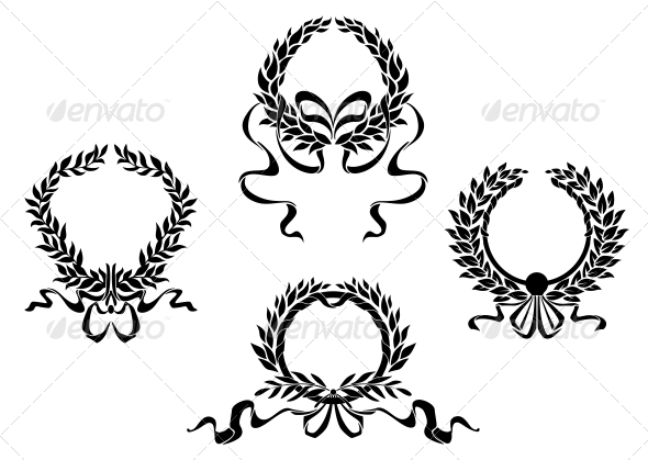 GraphicRiver Royal Laurel Wreaths 4869485