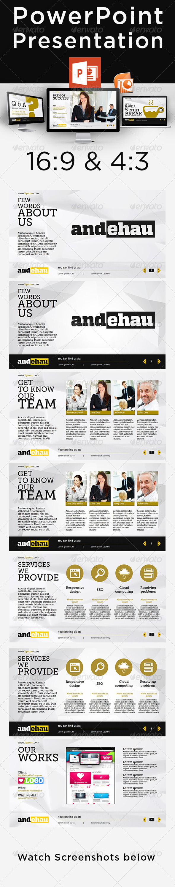 GraphicRiver Business Powerpoint Presentation 4843990