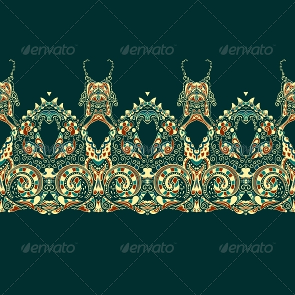 GraphicRiver Ornate Vector Dragon Patterns 4870325