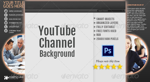 GraphicRiver Corporate YouTube Channel Background Template 2 4870468
