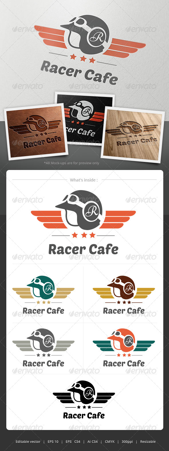 GraphicRiver Racer Cafe Logo 4855244
