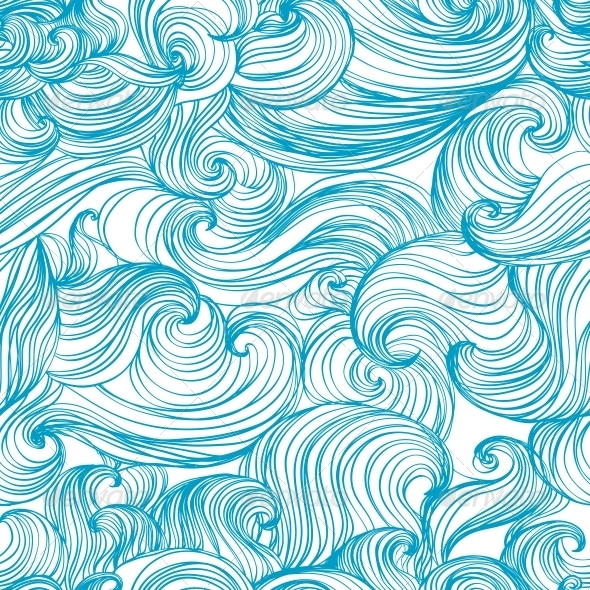 GraphicRiver Waves and Curls Background 4871626