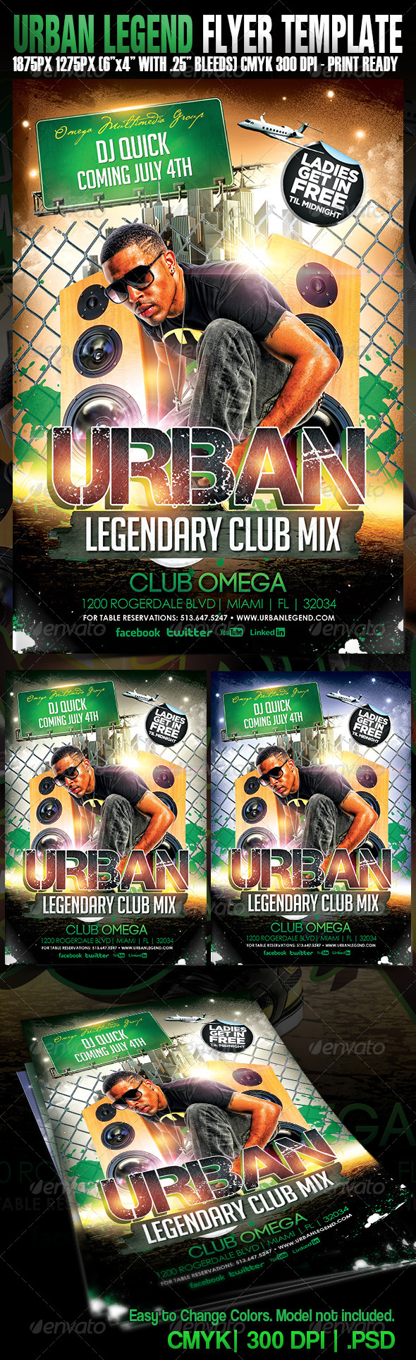 Urban Legend - Events Flyers