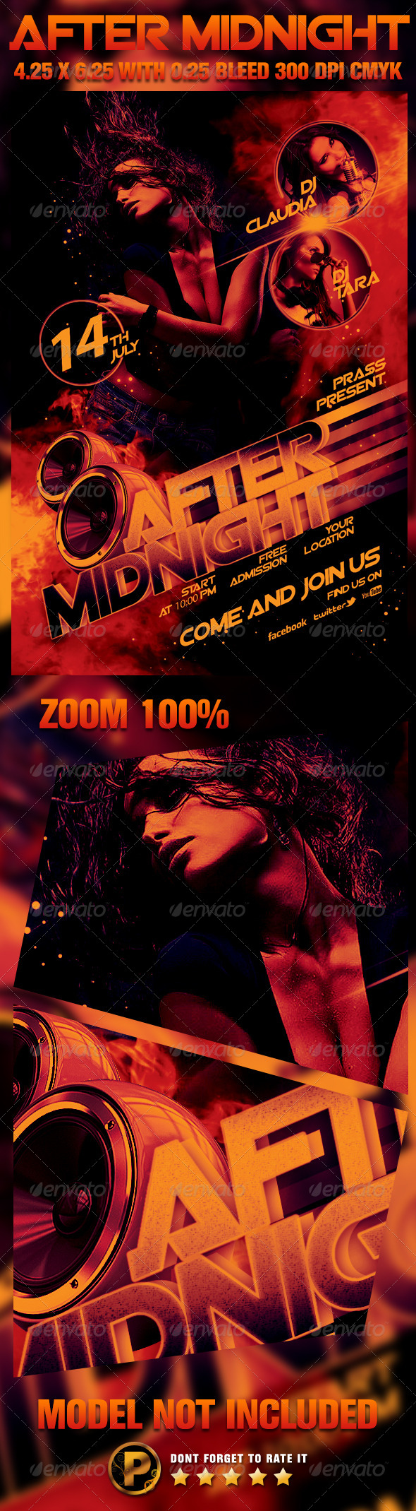 After Midnight Flyer Template - Clubs & Parties Events