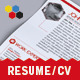 Tech Resume/CV - GraphicRiver Item for Sale