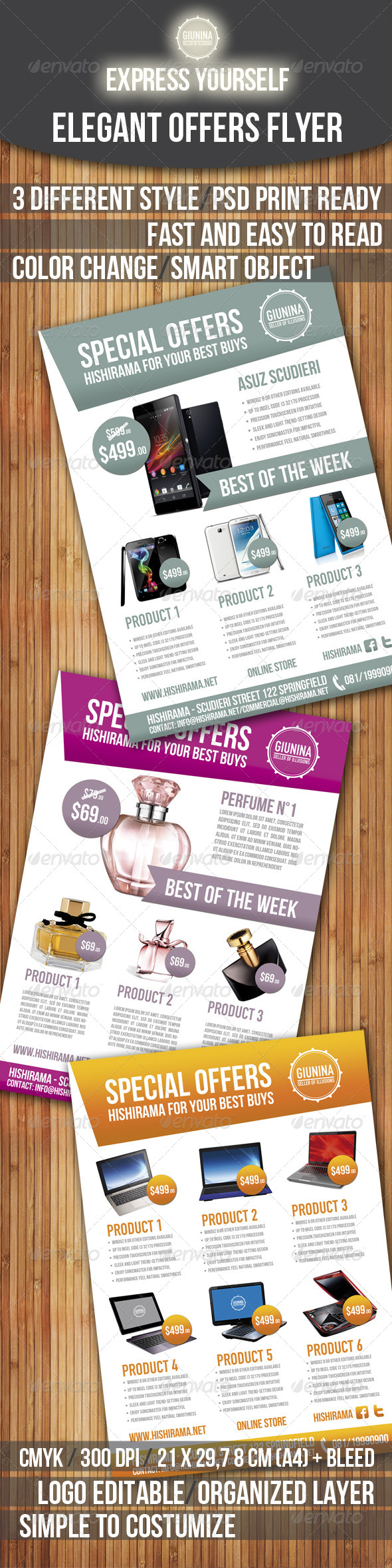 Elegant Offers Flyer - Commerce Flyers
