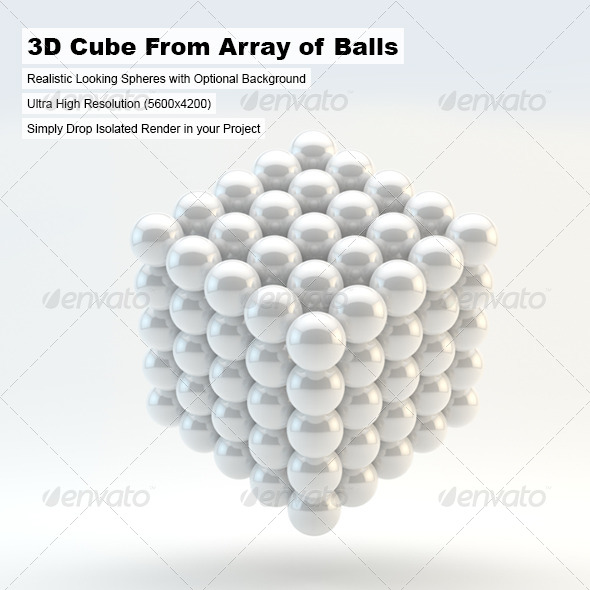 GraphicRiver 3D Cube From Array of Balls 4874268