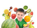 Healthy Fruit Child on White - PhotoDune Item for Sale